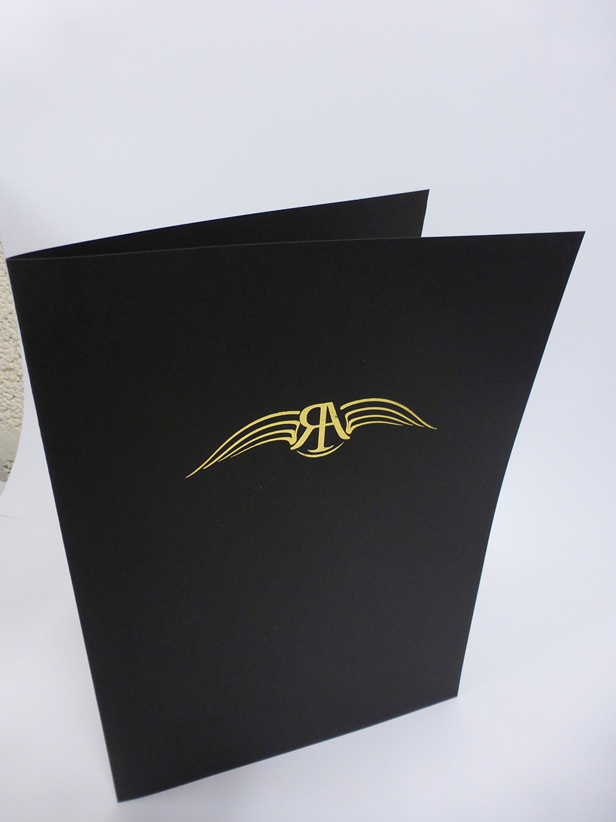 Gold Foil on A4 Folder