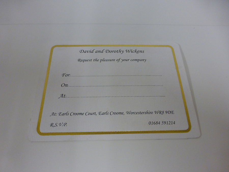 Gold Foiled Boarder on Digital printed Card