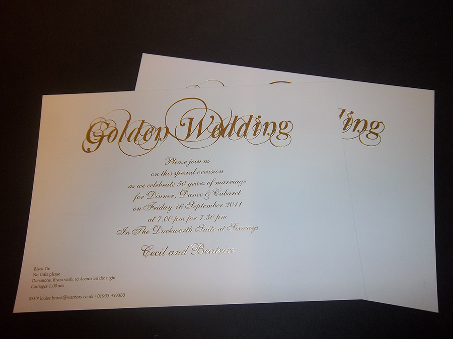 Golden Wedding Invite