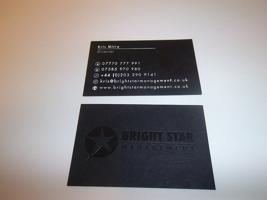 Business Card foiled in Black and White Foil 2 sides