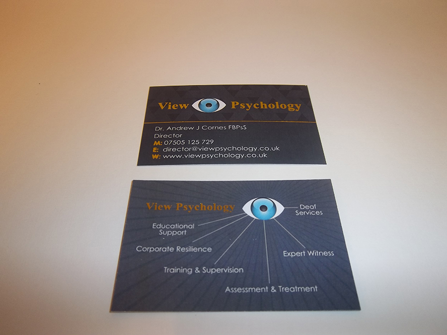 Business Card foiled and Digitally printed