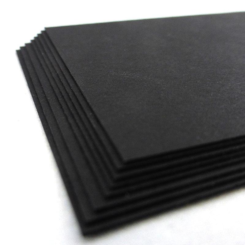 Popset Black Matt 320g - 100 Standard Business Cards (85mm x 55mm ...