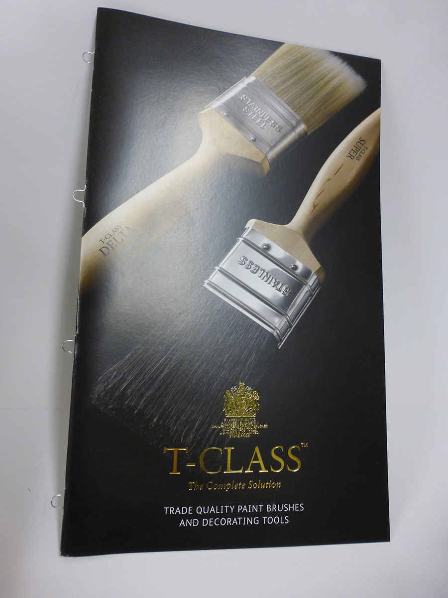 Gold Over foiling on Litho printed Brochure