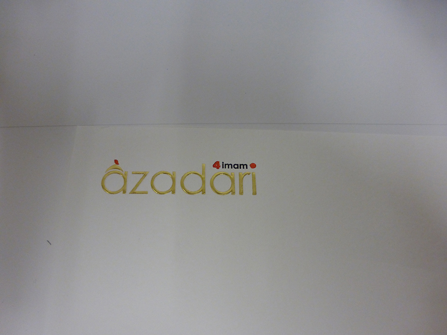Letterhead foiled in Gold, Black & Red and Embossed