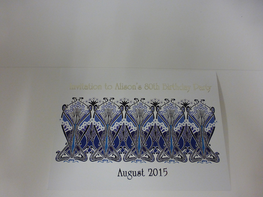 Silver Foiled Invite with Digital Printing