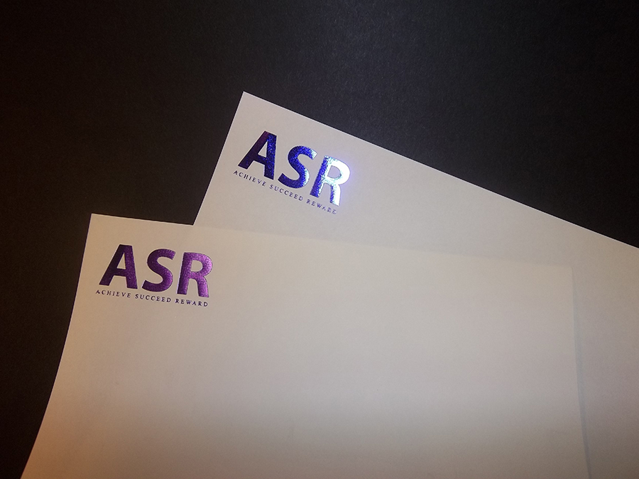 Foiled and Embossed Letterhead