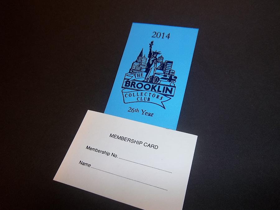 Membership Card Foil printed 2 sides